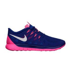 Nike Free Run 5.0 Royal Blue Running Shoes sz 9.5